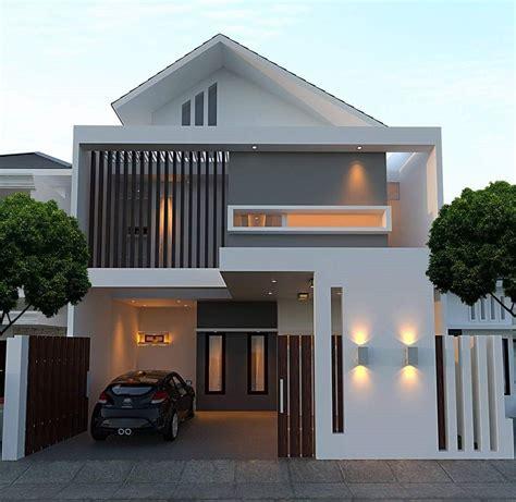model desain rumah minimalis type   lantai elegan