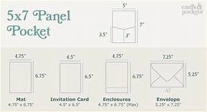 pocket invitation 5x7 panel pocket cards pockets With wedding invitation card size in inches