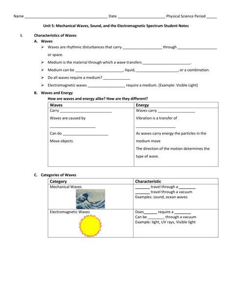 wave basics worksheet answers free printables worksheet