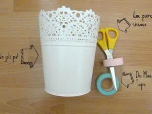 Pot Fleur Ikea : diy masking tape pots de fleurs ikea par memoriesfromanywhere ~ Teatrodelosmanantiales.com Idées de Décoration