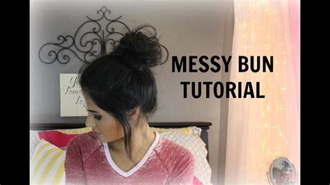 quick  easy messy bun tutorial madison