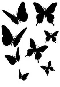 butterfly silhouettes butterfly stencil silhouette