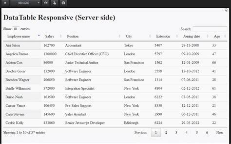 datatable search by datepicker server side datatable responsive server side