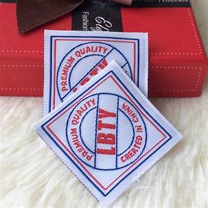 custom clothing labels sew on fabric labels and hang tag With custom clothing labels sew on