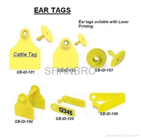 animal identification ear tags sb id  shanbro