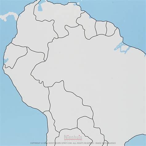 south america control map unlabeled montessori spirit
