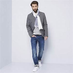 Vestiti-casual-uomo-jeans-maglione-giacca-invernale-sciarpa-bicolore-scarpe-da-ginnastica ...