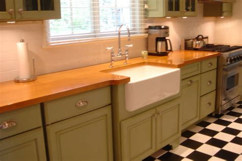 sybil green kitchen green cabinets classic black and white tiled floor new 2641