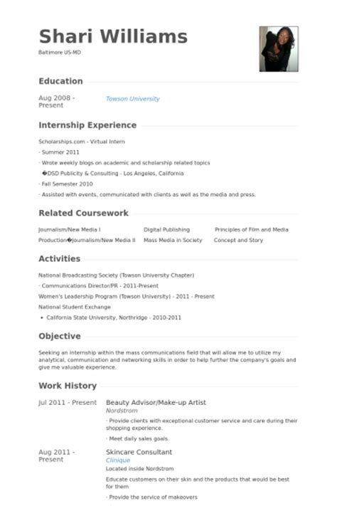 advisor resume sles visualcv resume sles