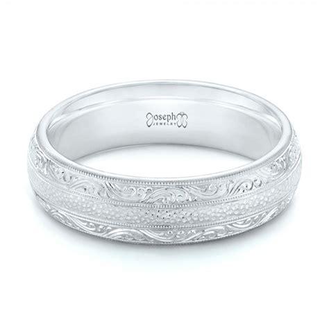 custom hand engraved mens wedding band  seattle