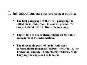 five paragraph argumentative essay sample