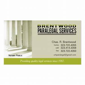Legal1 paralegal law office services notary public double for Paralegal business cards