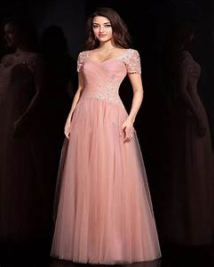 Lovely Cap Sleeve Bridesmaid Dresses 2015 Appliques A Line ...