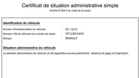 certificat non gage voiture comment avoir un certificat de non gage