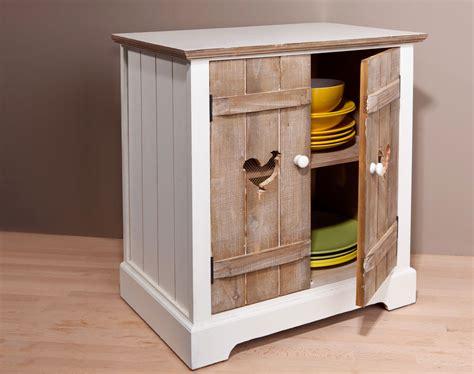petit mobilier de cuisine meuble 2 portes motif poule becquet