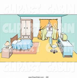 Vector Clip Art of a Clean Room - Nightstand, Bed, and ...