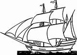 Pirate Ship Coloring Pages Printable Ships Boats Sheets Cartoon Sail Sailing Viking Sea Printing sketch template
