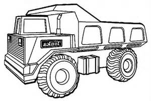 coloring page of truck gallery