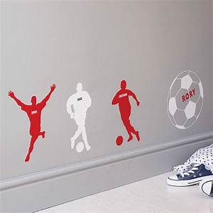 Personalised football wall sticker by the bright blue pig for Football wall decals
