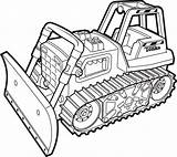 Bulldozer Drawing Coloring Clipart Excavator sketch template