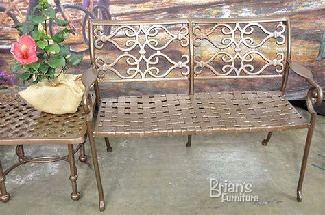 loveseat outdoor furniture cast aluminum