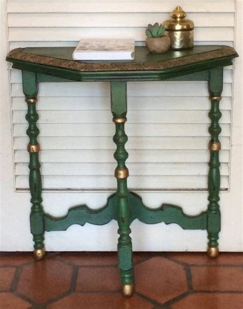 Green Nightstand Table by Green Nightstand End Table Vintage 1940s Etsy