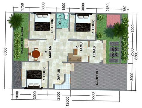 denah rumah sederhana untuk 1 2 3 4 kamar tidur dan tipe