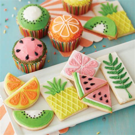 fruits  summer cupcakes  cookies wilton