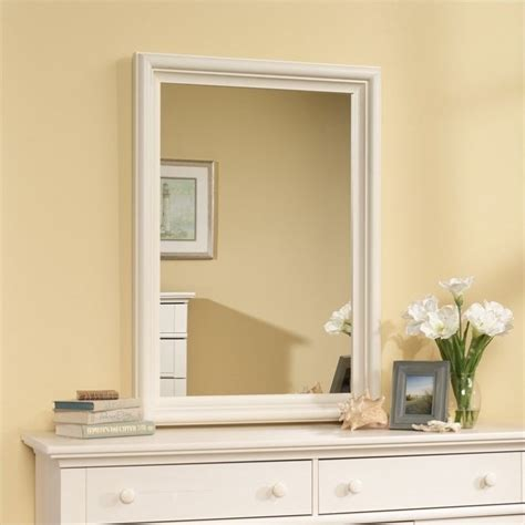 Sauder Harbor View Dresser And Mirror by Sauder Harbor View Mirror Set Antiqued White Dresser Ebay