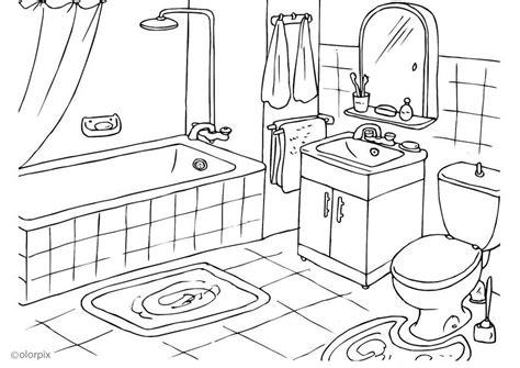 salle de bain coloriage salle de bains img 25994
