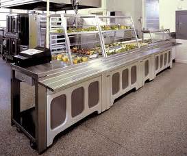 soup kitchen island food service serving lines cafeteria lines and buffet