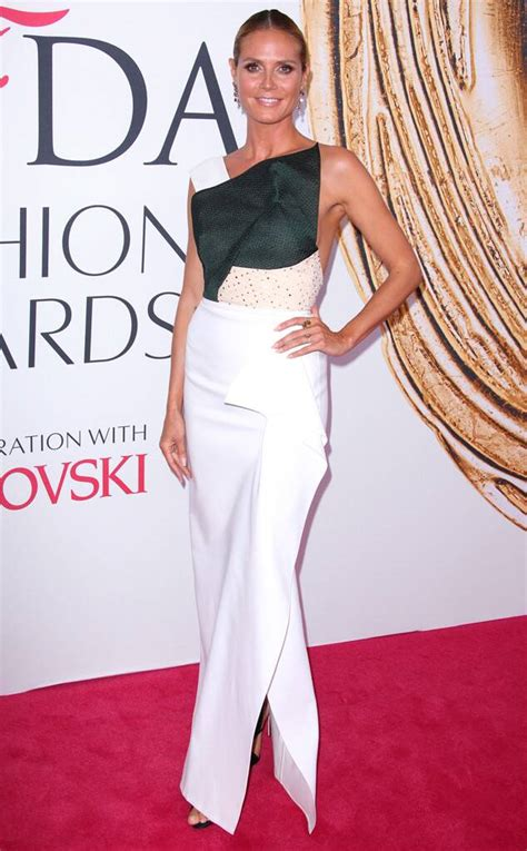 Heidi Klum From Cfda Fashion Awards Red Carpet
