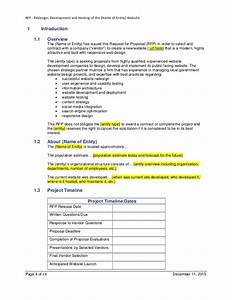 example rfp template for website design development With rfp timeline template