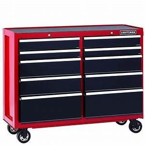 Craftsman 52-inch 10-drawer Heavy-duty Rolling Cart