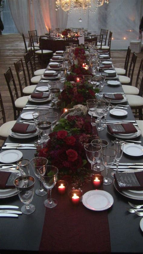 romance  warmth  genius winter wedding table