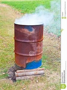 Burning Barrel Stock Images