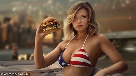 Samantha Hoopes strips down for Carl's Jr.'s biggest ...