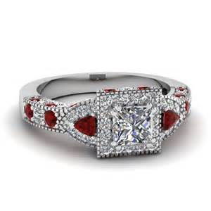 ruby wedding band trillion princess ring halo engagement rings and engagement rings