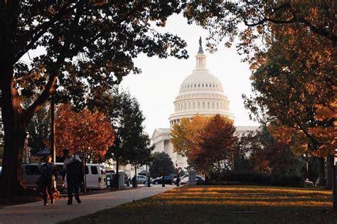 foliage fall washington dc capitol photograph places national