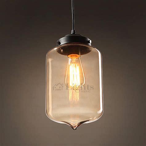 designer blown glass pendant light industrial