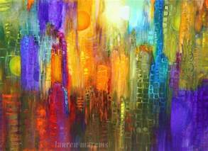 abstract cityscape painting modern contemporary