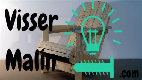 comment faire une chaise de jardin chaise adirondack ep03