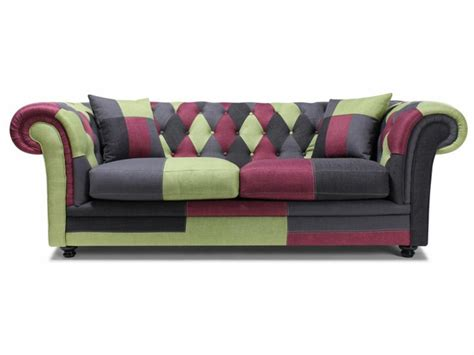 canape chesterfield tissu photos canapé chesterfield tissu patchwork