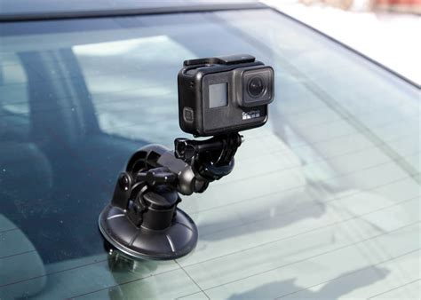 gopro car mounts  rock solid footage suction clamp dashboard click