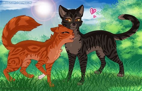 Squirrelflight And Brambleclaw By Ruki -- Fur Affinity