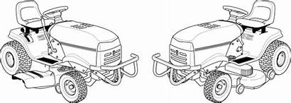 Lawn Coloring Pages Mower Clip Tractor Clipart