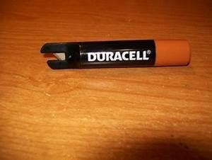 free duracell battery razor gift or letter opener With razor letter opener