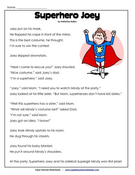 2nd grade reading comprehension worksheets pdf projects