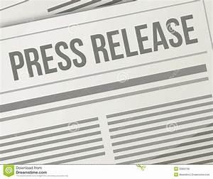 Press Release Closeup Illustration Design Graphic Stock ...