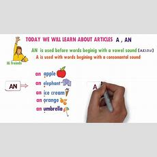 Learn How To Use Articles A,an  English For Beginners  Articles For Grade 3 Youtube
